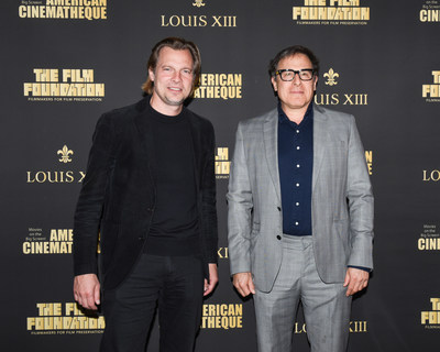 David O. Russell and Louis XIII Global Executive Director Ludovic du Plessis at the LA Premiere of the Restored 1919 Classic THE BROKEN BUTTERFLY in Los Angeles on December 13 (PRNewsfoto/LOUIS XIII)