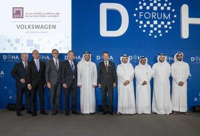 VW QIA signing ceremony (PRNewsfoto/Qatar Investment Authority (QIA))
