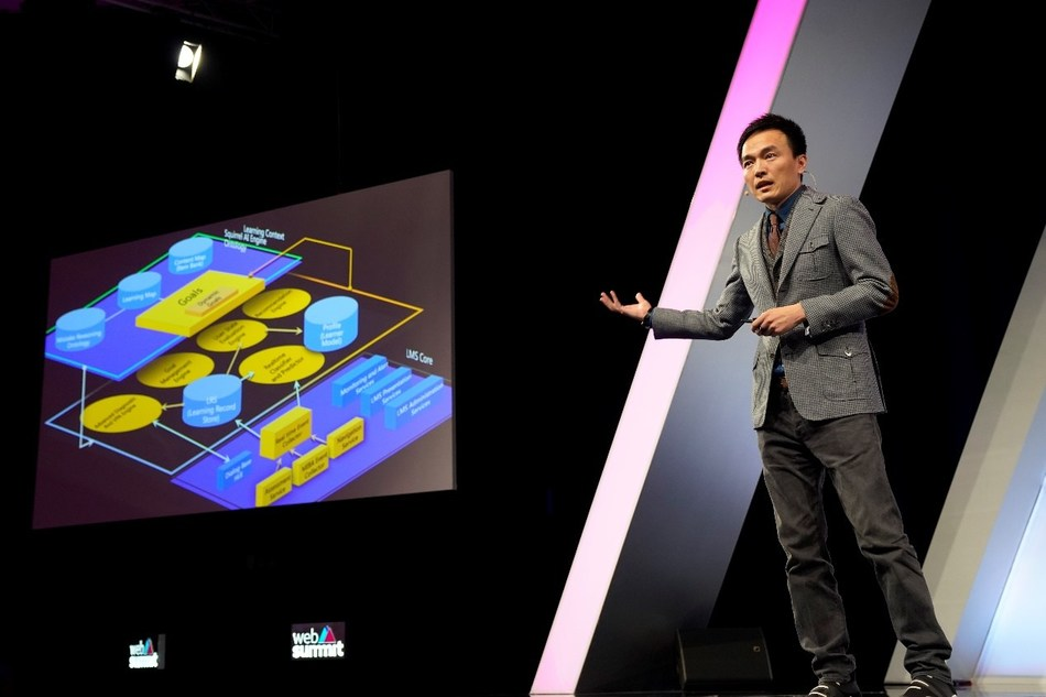 Derek Li, Founder and Chief Educational Technology Scientist of Squirrel AI Learning, Delivered a Speech
