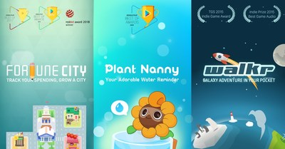 Cultivating new habits in a fun way. With more than 25 million users around the world, the digital design studio Fourdesire's three award-winning gamification mobile apps - Plant Nanny², Walkr, and Fortune City- hope to help even more users walk further, drink water and spend wisely.