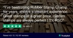 Rubber Stamp Champ Shows Astronomical Review Numbers