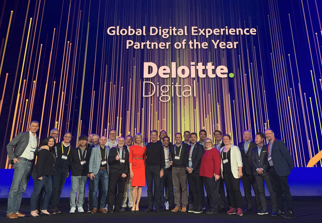 Deloitte Digital team accepts Adobe 2019 Global Digital Experience Solution Partner of the Year award in Las Vegas