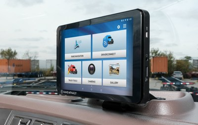 The new Rand McNally TND Tablet 85 is the first of the company's 6th generation of truck navigation devices for professional drivers.