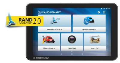 The Rand McNally TND Tablet 85 features the all-new navigation and routing platform: Rand Navigation 2.0.