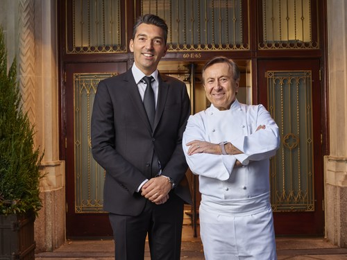 Sebastien Silvestri (left) is the new Chief Executive Officer of Chef Daniel Boulud's award-winning restaurant group, The Dinex Group. Photo credit: Bill Milne