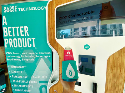 """S?RSE Technology teams up with Drop Water for a """"Build Your Own CBD Beverage"""" Station at this year's BevNET"""