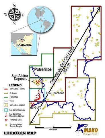 Potrerillos Concession (CNW Group/Mako Mining Corp.)