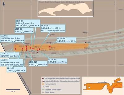 Figure 2 – Hurricane Zone Drill Hole Location Map (CNW Group/IsoEnergy Ltd.)