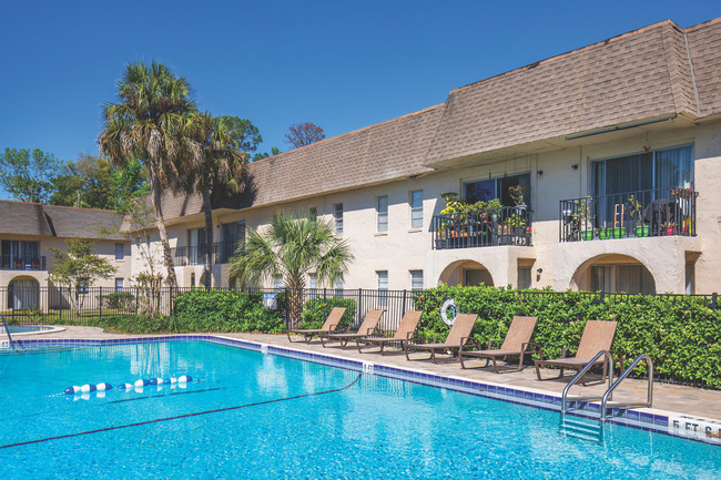 Park Village offers a sparkling swimming pool with spa