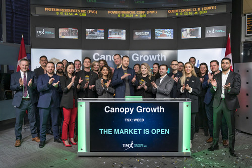 Canopy Growth Corporation Opens the Market (CNW Group/TMX Group Limited)