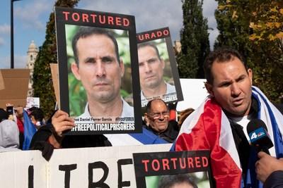 Manifestantes exigen la liberación de José Daniel Ferrer