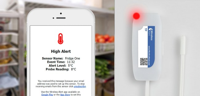 The product can be used to monitor food produce amongst many other temperature-sensitive goods.
