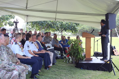 Governor David Ige joins project stakeholders for traditional project blessing of the Pacific Energy Assurance and Renewables Laboratory project