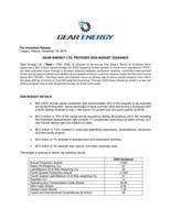 Gear Energy Ltd. Provides 2020 Budget Guidance (CNW Group/Gear Energy Ltd.)