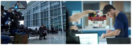 Behind the scenes of Departure (Season 1) and Nurses (Season 1). Photo by Global TV. (CNW Group/Corus Entertainment Inc.)