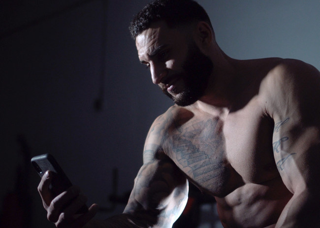 Dustin @dktruefit using the Muscle Shocker app