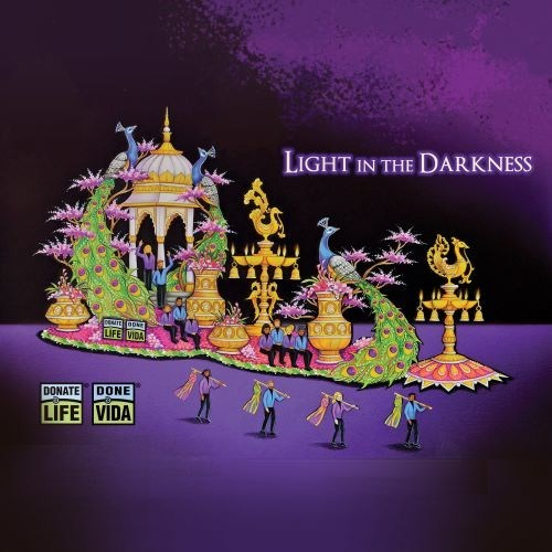 Rendering of the Donate Life Rose Parade float, Light in the Darkness.