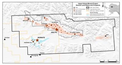 Figure 1: Upper Kobuk Mineral Projects, Alaska (CNW Group/Trilogy Metals Inc.)