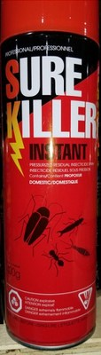 Sure Killer Instant Pressurized Residual Insecticide Spray (CNW Group/Health Canada)
