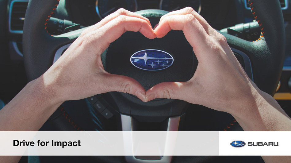 Subaru of America, Inc. releases inaugural Corporate Impact Report containing a sampling of the automaker's corporate responsibility stories and reflects benchmark data through the end of the 2018 calendar year.