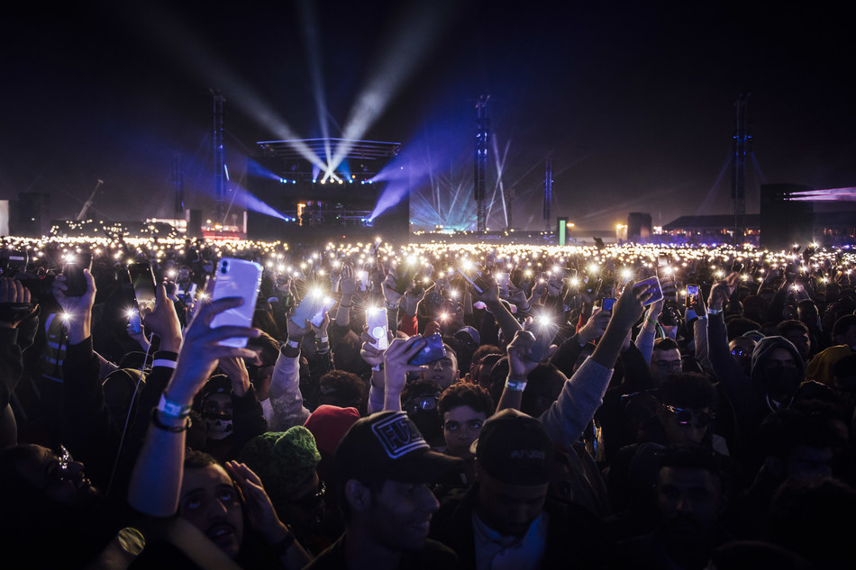 MDL Beast Festival - the Saudi spectacular sees International and National talent perform to an elated crowd of 150 thousand festival goers
