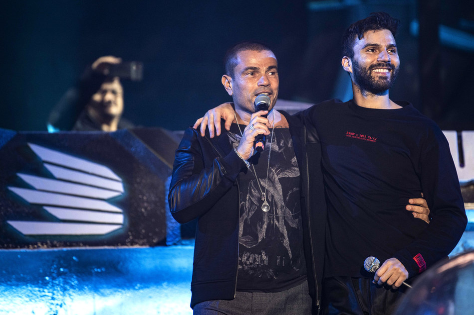 Amr Diab and R3hab perform during MDL Beast, a three day festival in Riyadh, Saudi Arabia, bringing together the best in music, performing arts and culture.