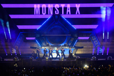 Monsta X performing at MDL Beast, a three-day festival in Riyadh, Saudi Arabia, bringing together the best in music, performing arts and culture.