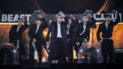 Monsta X perform during MDL Beast, a three day festival in Riyadh, Saudi Arabia, bringing together the best in music, performing arts and culture.