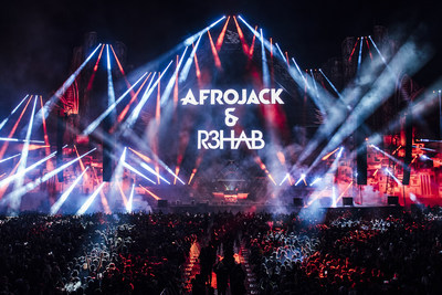 Afrojack and R3hab perform during MDL Beast, a three day festival in Riyadh, Saudi Arabia, bringing together the best in music, performing arts and culture.