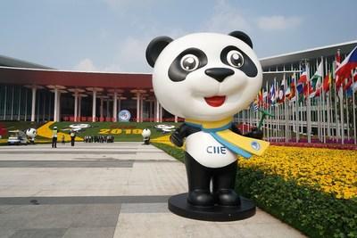 Jinbao, the mascot of the China International Import Expo (CIIE)