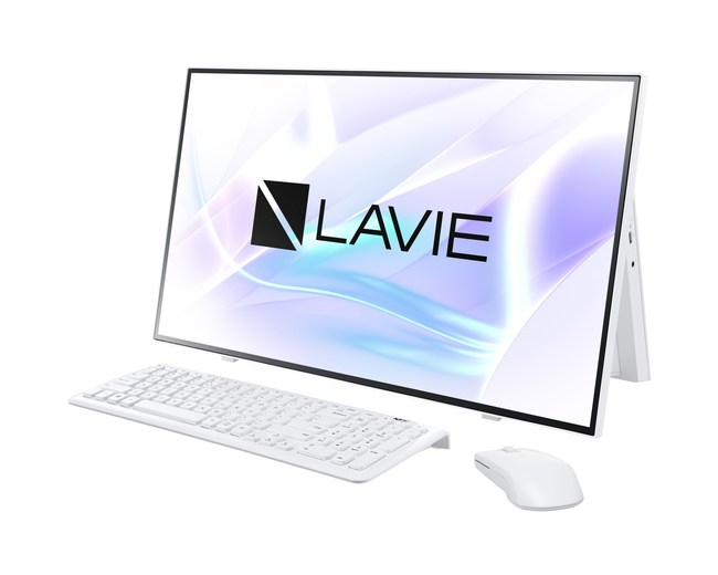 LAVIE Home All-in-one, equipped with 10th gen Intel U Processor and 4 array far-field mic for voice control.