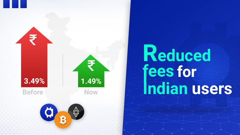 Cashaa reduced its fees by more than 50 % for its Indian crypto users as volume grows above a Million USD