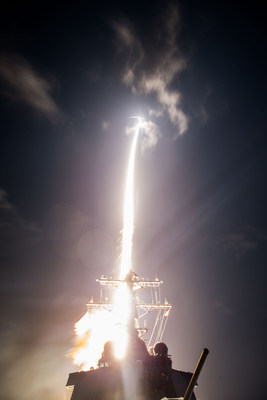 The next-generation SM-3® Block IIA interceptor features a larger rocket motor and enhanced kinetic warhead to defend a wider area. (Photo: Missile Defense Agency)