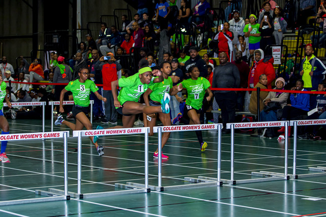 Saturday's Mid School competition featured some of the nation's most promising young talent, including Ron-nia Wright of Stone Mountain, Georgia, who won the 55 meter-hurdles in 8.44 at the second preliminary meet of the 46th annual Colgate Women's Games.