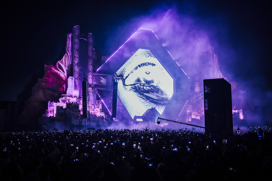 MDL Beast Festival - the Saudi spectacular sees International and National talent perform to an elated crowd of 150 thousand festival goers (PRNewsfoto/MDL Beast Festival)