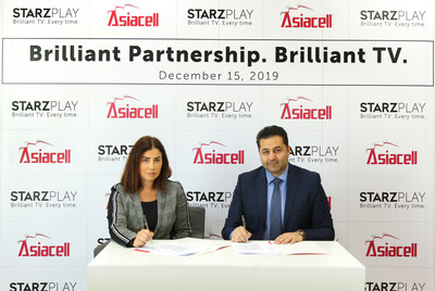 Asiacell and STARZPLAY Partnership Agreement Signing Ceremony in Dubai, December 2019 (PRNewsfoto/Asiacell Telecommunications PJSC)