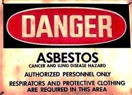 Asbestos Warning Sign-Lung Cancer