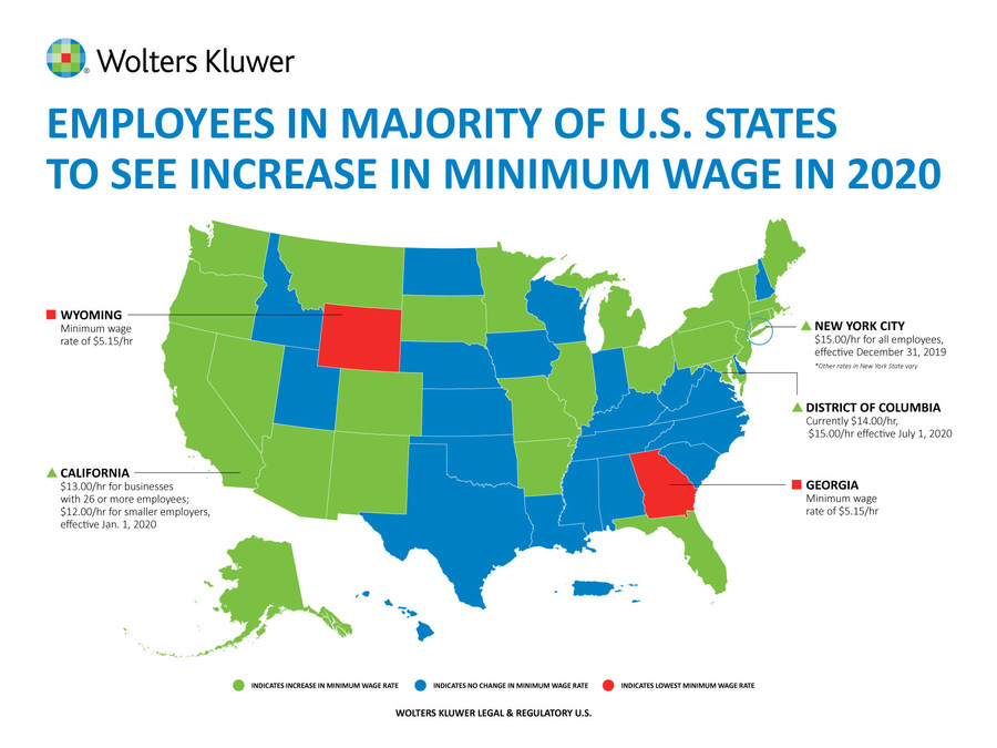Workers In Majority Of U S States To See An Increase In Minimum
