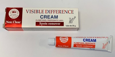 Visible Difference Cream Spots Remover (outer carton and tube) (CNW Group/Health Canada)