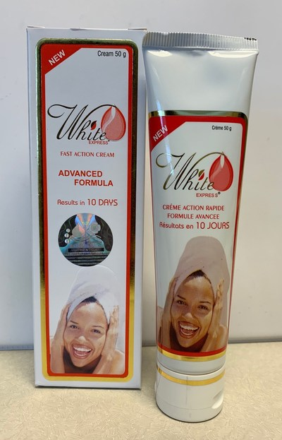 White Express Fast Action Cream Advanced Formula (outer carton and tube) (CNW Group/Health Canada)