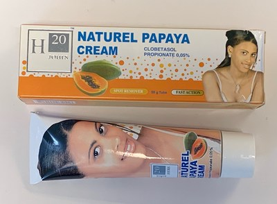 H20 Jours Naturel Papaya Cream (outer carton and tube) (CNW Group/Health Canada)