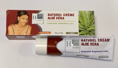 H20 Jours Naturel Cream Aloe Vera (outer carton and tube) (CNW Group/Health Canada)