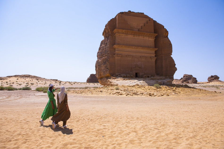 Saudi Arabia's ancient UNESCO heritage site Madain Saleh will open to tourists for the first time in 2020 (PRNewsfoto/SCTH/ Visit Saudi)