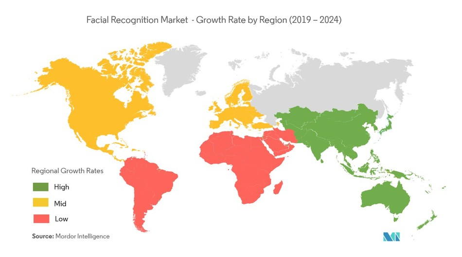 Facial Recognition Market - Geographical Overview