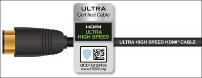 The Ultra High Speed HDMI Cable with Ultra High Speed HDMI Certification Label