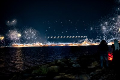 SKYMAGIC and Fireworks by Grucci join forces to deliver a record-breaking PyroDrone™ show performance.