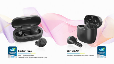 With two CES 2020 Innovation Awards honorees, EarFun is the most awarded new audio brand at CES.