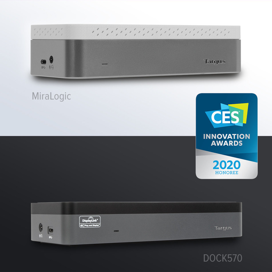 Targus showcases revolutionary and award-winning solutions at CES 2020, including  IoT-enabled docking station and world's first 4K quad docking station.