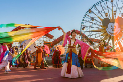 "Disneyland Resort in California welcomes a year of good fortune with Lunar New Year celebrations at Disney California Adventure Park from Jan. 17 – Feb. 9, 2020. Celebrating the Year of the Mouse, the limited-time festival features ""Mulan's Lunar New Year Procession,"" pictured here, plus ""Hurry Home – Lunar New Year Celebration"" prior to ""World of Color,"" a Lucky Wishing Wall, delectable foods and more."
