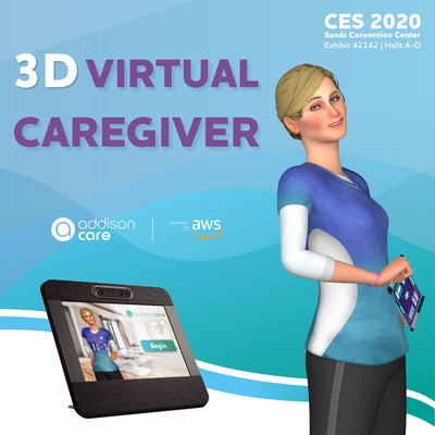 Addison, the Virtual Caregiver™, appears on a touch-screen device and provides a new digital health technology solution to consumers.
